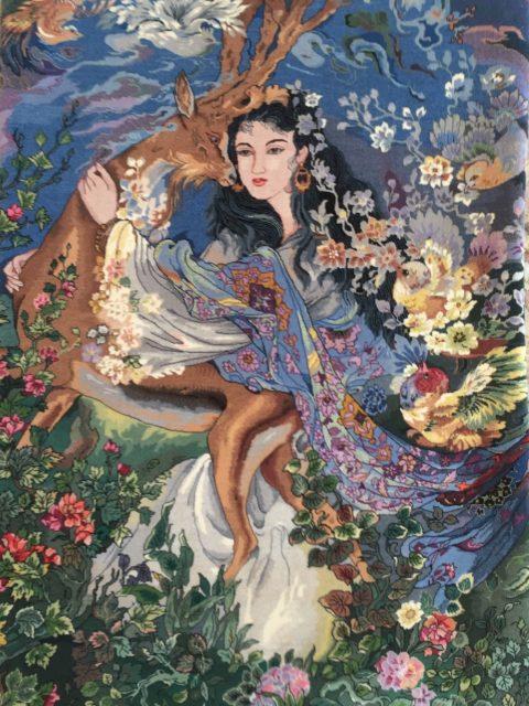 2' x 3' Sino Isphahan Farshchian design